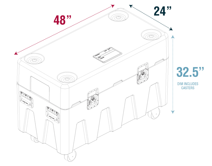 MTN Box Top View Dimensions