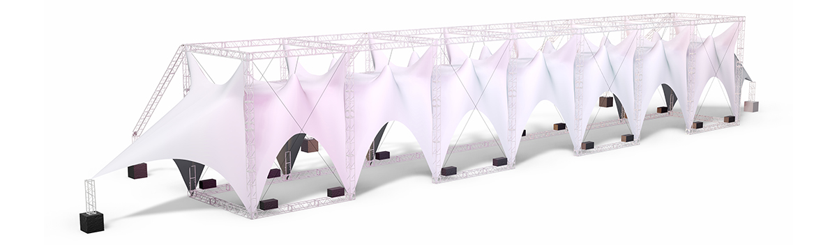 MTN Flow Tensile Fabric Structure