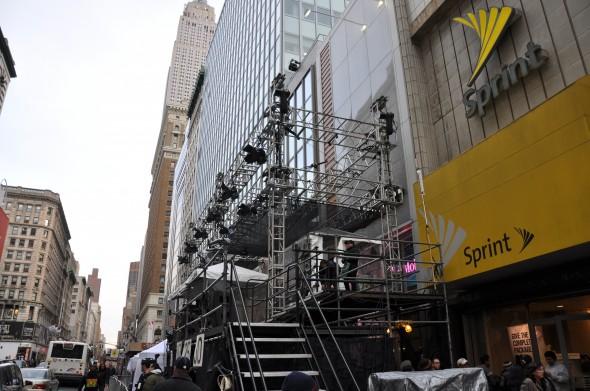 Stairs leading to NBC Platform