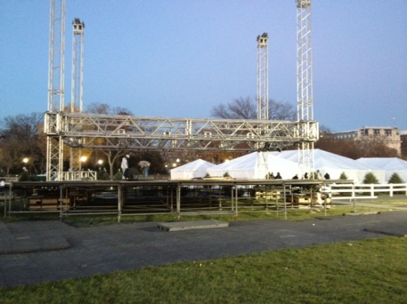 Main stage under construction