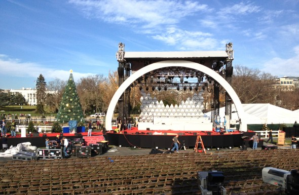 Main Stage at Christmas Tree Lighting
