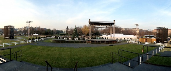 Panorama of the National Christmas Tree Lighting site