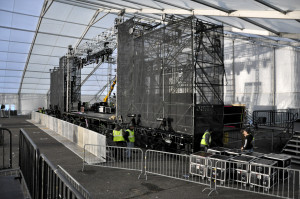 Side view of the Life in Color stage
