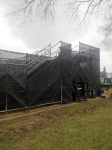 Overcast day for the riser build
