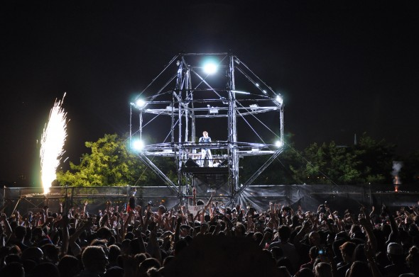 "The DJ ""orb"" built by Mountain Productions"