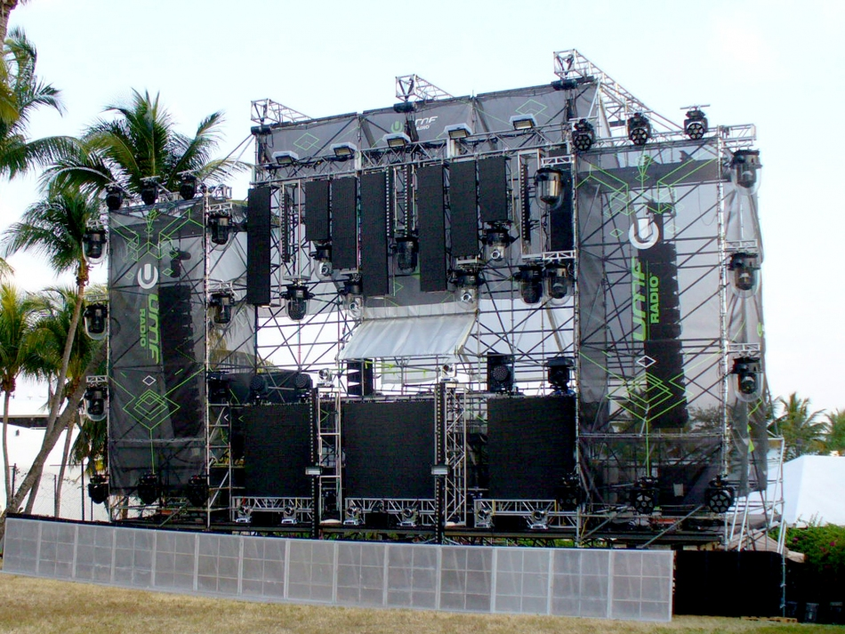 UMF Stage - Scaffold Staging