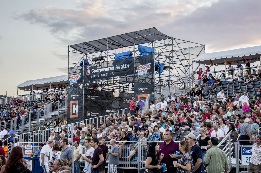 Musikfest's entranceway doubled as the main stage spot platform