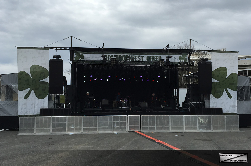 Shamrockfest and the SL-250 with Clearspan covered stage wings