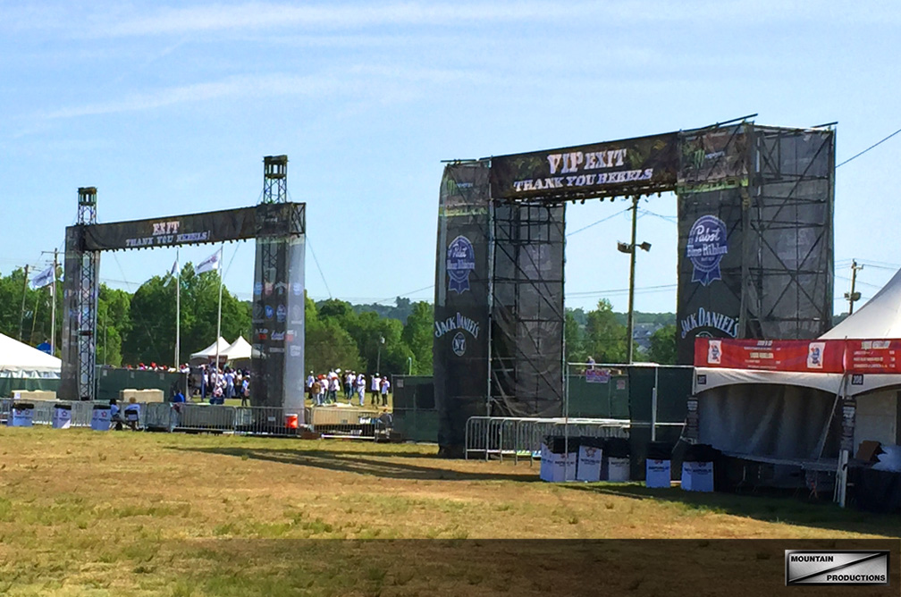 Tower and Scaffold Entranceways at Carolina Rebellion