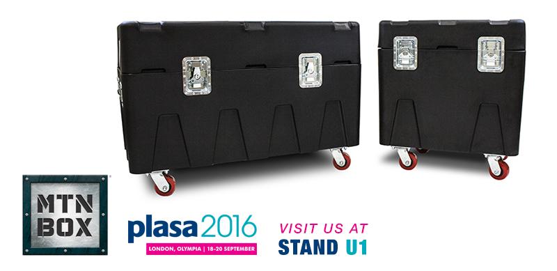 MTN BOX: Spektrum Series road cases at PLASA 2016 London Stand U1