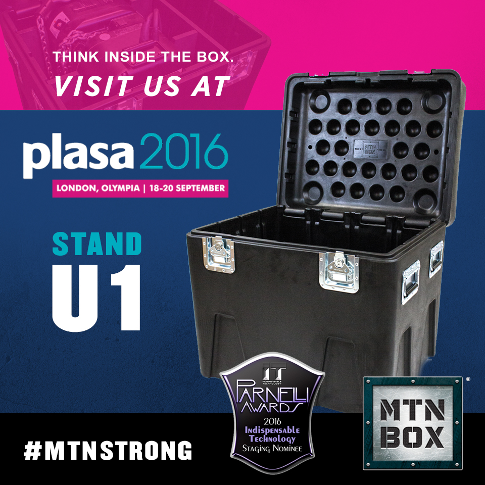 Visit the MTN BOX at PLASA 2016 London Stand U1