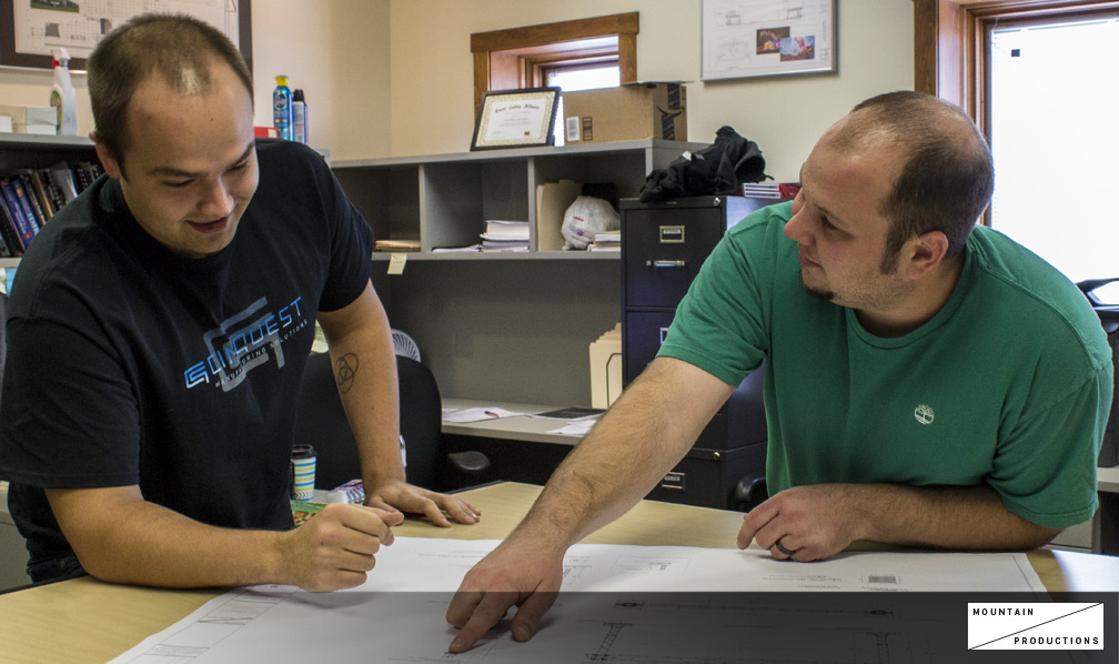 Matt works with Jesse McLaughlin on the engineering department on a print