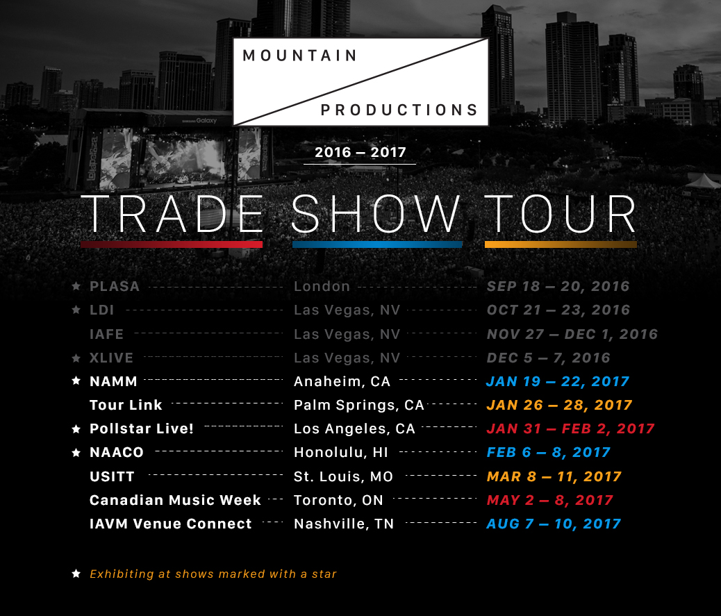 Mountain Productions' Trade Show Tour